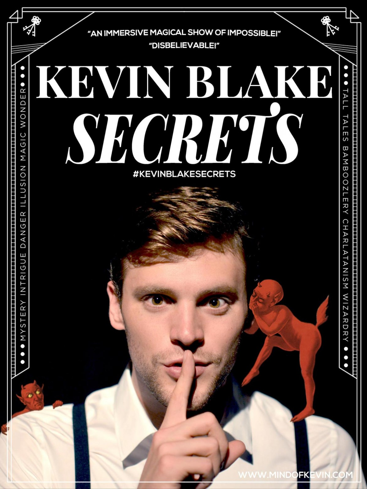Kevin Blake Announces new show 'Secrets: A Magical Mystery Show'