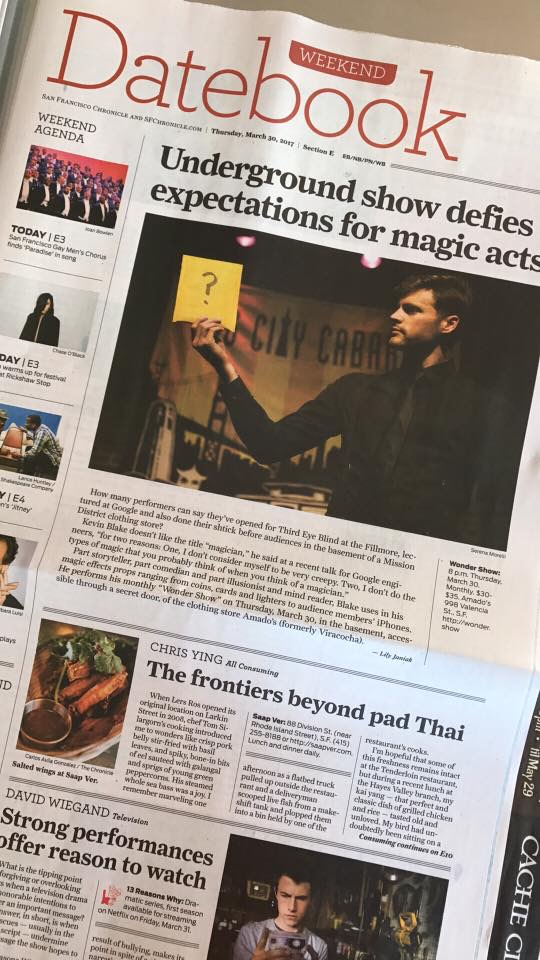"""""""Defies Magic Stereotypes"""" – SF Chronicle"""